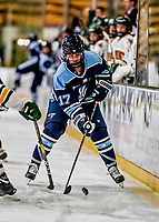 30 November 2018: University of Maine Black Bear Forward Lydia Murray, a Senior from Sault Ste. Marie, Ontario, in first period action against the University of Vermont Catamounts at Gutterson Fieldhouse in Burlington, Vermont. The Lady Bears defeated the Lady Cats 2-1 in the first game of their 2-game Hockey East series. Mandatory Credit: Ed Wolfstein Photo *** RAW (NEF) Image File Available ***