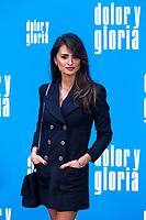 The actress Penelope Cruz  attends the photocall of the movie 'Dolor y gloria' in Villa Magna Hotel, Madrid 12th March 2019. (ALTERPHOTOS/Alconada) /NortePhoto.con NORTEPHOTOMEXICO