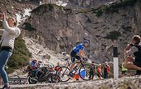 Alexander Foliforov (RUS/Gazprom-RusVelo) up the Passo Gardena / Grödnerjoch (2221m)<br /> <br /> Stage 18: Moena › Ortisei/St. Urlich (137km)<br /> 100th Giro d'Italia 2017