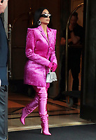 NEW YORK, NY- October 07: Kim Kardashian-West seen leaving her hotel to Saturday Night Live rehearsals in New York City on October 07, 2021 <br /> CAP/MPI/RW<br /> ©RW/MPI/Capital Pictures