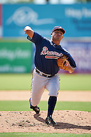 Atlanta Braves pitcher Carlos Salazar (97) during an Instructional League game against the Washington Nationals on September 30, 2016 at Space Coast Stadium in Melbourne, Florida.  (Mike Janes/Four Seam Images)