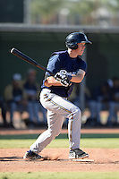 Milwaukee Brewers third baseman Tucker Neuhaus (2) during an Instructional League game against the Los Angeles Angels on October 11, 2013 at Tempe Diablo Stadium Complex in Tempe, Arizona.  (Mike Janes/Four Seam Images)
