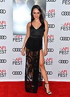 "LOS ANGELES, USA. November 20, 2019: Romina Laino at the gala screening for ""The Aeronauts"" as part of the AFI Fest 2019 at the TCL Chinese Theatre.<br /> Picture: Paul Smith/Featureflash"