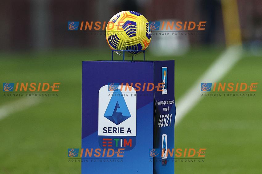 banner and Ball Serie A<br /> prior to the Serie A football match between Benevento Calcio and Spezia Calcio at stadio Ciro Vigorito in Benevento (Italy), November 7th, 2020. <br /> Photo Cesare Purini / Insidefoto