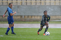 20190227 - LARNACA , CYPRUS : South African goalkeeper Andile Dlamini pictured during a women's soccer game between the South African Banyana Banyana and Finland , on Wednesday 27 February 2019 at the GSZ Stadium in Larnaca , Cyprus . This is the first game in group A for both teams during the Cyprus Womens Cup 2019 , a prestigious women soccer tournament as a preparation on the Uefa Women's Euro 2021 qualification duels and the Fifa World Cup France 2019. PHOTO SPORTPIX.BE | STIJN AUDOOREN