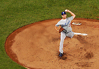 6 September 2011: Los Angeles Dodgers' pitcher Ted Lilly on the mound against the Washington Nationals at Nationals Park in Washington, District of Columbia. The Dodgers defeated the Nationals 7-3 to take the second game of their 4-game series. Mandatory Credit: Ed Wolfstein Photo