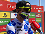 Rein Taaramäe (EST) Intermarché-Wanty-Gobert Matériaux also retains the mountains Polka Dot Jersey at the end of Stage 6 of La Vuelta d'Espana 2021, running 158.3km from Requena to Alto de la Montaña Cullera, Spain. 19th August 2021.    <br /> Picture: Unipublic   Cyclefile<br /> <br /> All photos usage must carry mandatory copyright credit (© Cyclefile   Unipublic)