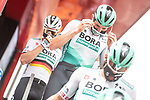 Bora-Hansgrohe at sign on before Stage 10 of La Vuelta d'Espana 2021, running 189km from Roquetas de Mar to Rincón de la Victoria, Spain. 24th August 2021.     <br /> Picture: Charly Lopez/Unipublic   Cyclefile<br /> <br /> All photos usage must carry mandatory copyright credit (© Cyclefile   Unipublic/Charly Lopez)