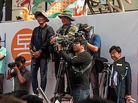 Presse bei Umzug in Nampo-dong, Busan, Gyeongsangnam-do, Südkorea, Asien