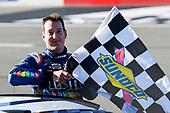 Monster Energy NASCAR Cup Series<br /> Overton's 400<br /> Pocono Raceway, Long Pond, PA USA<br /> Sunday 30 July 2017<br /> Kyle Busch, Joe Gibbs Racing, M&M's Caramel Toyota Camry, Celebrates after winning at Pocono.<br /> World Copyright: John K Harrelson<br /> LAT Images