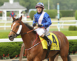 June 5 2015: Waltzing Matilda with Junior Alvarado win the 72nd running of the Grade II The New York Stakes for fillies & Mares, 4-year olds & up, going 1 1/4 miles on the turf, at Belmont Park.  Trainer Tommy Stack. Owner Mrs. Paul Shanahan. Sue Kawczynski/ESW/CSM