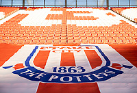 19th December 2020; Bet365 Stadium, Stoke, Staffordshire, England; English Football League Championship Football, Stoke City versus Blackburn Rovers; A flag in the stands