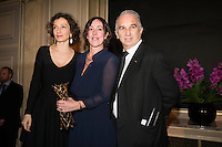 Winner of the 'Daniel Toscan du Plantier' Scenarist Price, Sylvie Pialat, for all of their production over the year 2016, with French Minister of Culture and Communication, Audrey Azoulay and President of Academie des Cesars Alain Terzian, attend the 'Diner des Producteurs' - Producer's Dinner - Cesar 2017. Held at Four Seasons Hotel George V on February 20, 2017 in Paris, France. # DINER DES PRODUCTEURS DES CESAR 2017