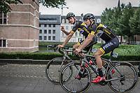 Toon Aerts (BEL/Telenet Fidea Lions) and Corné Van Kessel (NED/Telenet Fidea Lions)  on their way to the pre race sign on. <br /> <br /> 11th Heistse Pijl 2018<br /> Turnhout > Heist-op-den Berg 194km (BEL)