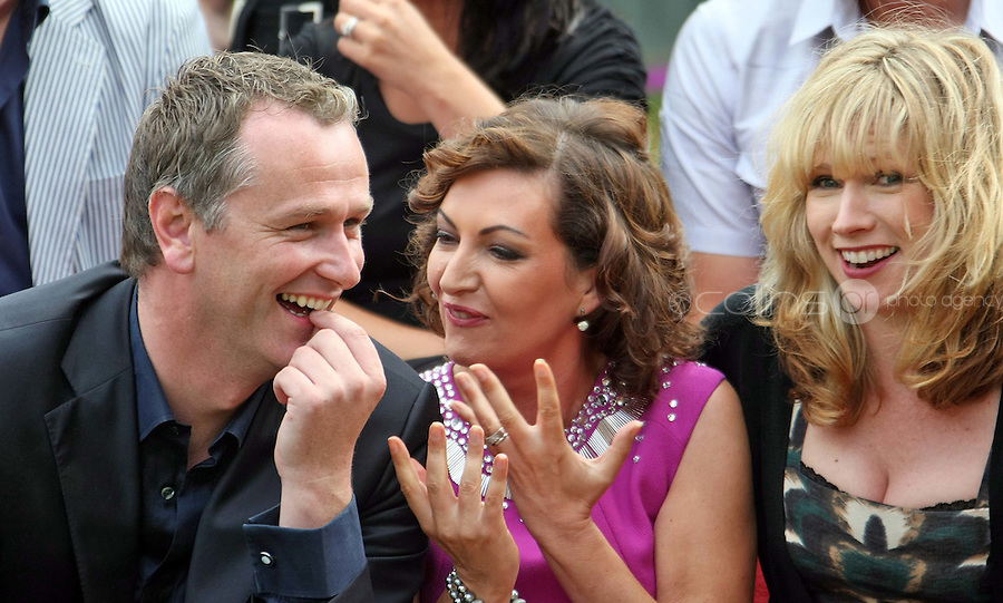 05/08/'10  Daithi O Se, Maura derrane and Sonya Lennon pictured  at the launch of RTE's new season winter schedule at Montrose this afternoon...Picture Colin Keegan, Collins, Dublin.