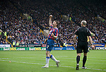 Sheffield Wednesday 2 Crystal Palace 2, 02/05/2010. Hillsborough. Championship. Crystal Palace's Darren Ambrose celebrating scoring his team's second goal at Hillsborough during the crucial last-day relegation match against Sheffield Wednesday. The match ended in a 2-2 draw which meant Wednesday were relegated to League 1. Crystal Palace remained in the Championship despite having been deducted 10 points for entering administration during the season. Photo by Colin McPherson.