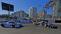 #10 Chevrolet Corvette DP of Ricky Taylor and Jordan Taylor and #90 Corvette DP of Richard Westbrook and Michael Valiante, Long Beach Grand Prix, Long Beach, CA, April 2014.  (Photo by Brian Cleary/ www.bcpix.com )  Long Beach Grand Prix, Long Beach, CA, April 2014.  (Photo by Brian Cleary/ www.bcpix.com )