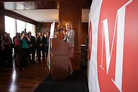 Anne-Marie Hébert, associée directrice pour le Québec, EY, présidente du concours Les Mercuriades, March 17, 2016.<br /> <br /> Photo : Pierre Roussel - Agence Quebec Presse