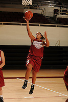 Stanford, CA - SEPTEMBER 30:  Guard Grace Mashore #1 of the Stanford Cardinal during Stanford's practice on September 30, 2008 at Maples Pavilion in Stanford, California.
