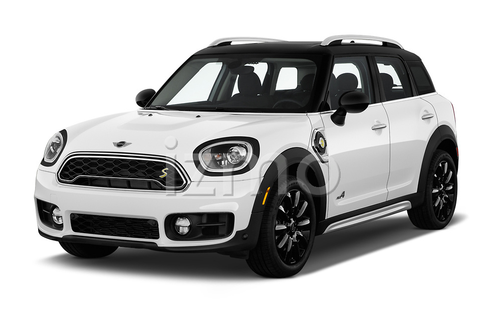 2018 Mini Countryman S 5 Door Hatchback angular front stock photos of front three quarter view