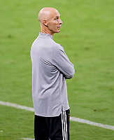 LOS ANGELES, CA - SEPTEMBER 23: Los Angeles football club head coach Bob Bradley during a game between Vancouver Whitecaps and Los Angeles FC at Banc of California Stadium on September 23, 2020 in Los Angeles, California.