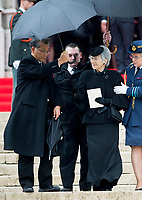 Empress Michiko of Japan attends (2nd R)  the funeral of Belgian Queen Fabiola at the Cathedral of St. Michael and St. Gudula in Brussels, Belgium, 12 December 2014. Photo: Patrick van Katwijk / NETHERLANDS OUT FRANCE OUT / NO WIRE SERVICE