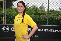 """The women's soccer team of Vatican City. 26 may 2019<br /> Chiara Armenti.<br /> <br /> Women's football arrives at the Vatican, with what can be considered in all respects the women's national football team of the Holy See. The Vatican representative, announced in recent weeks, made its debut yesterday afternoon, Sunday 26 May, in the sports center of the Knights of Columbus, against the Roma women's team of Roma.<br /> The girls that make up the team are all Vatican employees or wife and daughters of staff of the Holy See, plus some players from the Bambino Gesù hospital team who joined for this 11-a-side football match. «We are born in an amateur way - he tells the attacker and captain of the Vatican Eugene Tcheugoue - and playing together represents for us above all a way to get to know and be together ».<br /> <br /> The young soccer player, a graduate in theology and a native of Cameroon, has no doubts about the great important symbolism of the team: """"Many of us are mothers even before they are employees or at least daughters and wives, so in the first place for us is the metaphor of football as a gym of life. Sport in general - says Eugene Tcheugoue - conveys a fundamental message, both for the new generations and in particular for women """"."""