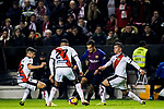 Philippe Coutinho of FC Barcelona is tackled by Rayo Vallecano players during the La Liga 2018-19 match between Rayo Vallecano and FC Barcelona at Estadio de Vallecas, on November 03 2018 in Madrid, Spain. Photo by Diego Gouto / Power Sport Images