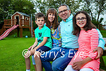 Joey and Laura Donoghue with their children Joshua and Isabella.
