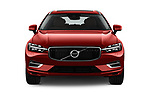 Car photography straight front view of a 2018 Volvo XC60 Inscription T8 eAWD Plug-in Hybrid 5 Door SUV