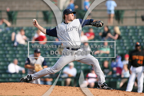 May 26th, 2008:  Pitcher Lance Broadway (21) of the Charlotte Knights, Class-AAA affiliate of the Chicago White Sox, during a game at Frontier Field in Rochester, NY.  Photo by:  Mike Janes/Four Seam Images