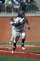 Robert Fajardo (26) of the Marshall Thundering Herd hustles down the first base line against the Charlotte 49ers at Hayes Stadium on April 23, 2016 in Charlotte, North Carolina. The Thundering Herd defeated the 49ers 10-5.  (Brian Westerholt/Four Seam Images)