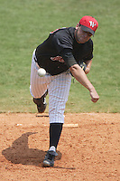Winston-Salem Warthogs starting pitcher Jack Egbert fires the ball to the plate versus the Salem Avalanche  at Ernie Shore Field in Winston-Salem, NC, Wednesday, August 2, 2006.  The Warthogs shutout the Avalanche 6-0.