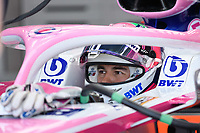 March 15, 2019: Sergio Perez (MEX) #11 from the Racing Point F1 Team in his garage during practice session two at the 2019 Australian Formula One Grand Prix at Albert Park, Melbourne, Australia. Photo Sydney Low