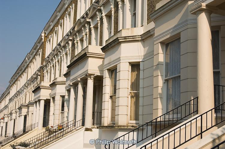 Victorian terrace housing on the resident-controlled Walterton Estate, North Paddington, London.