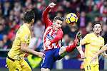 Atletico de Madrid's Kevin Gameiro during La Liga match. January 20,2018. (ALTERPHOTOS/Acero)