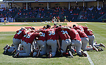 USC players huddle prior to a game between the Clemson Tigers and South Carolina Gamecocks Saturday, March 6, 2010, at Fluor Field at the West End in Greenville, S.C. Photo by: Tom Priddy/Four Seam Images