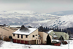 The notorious Penrhys estate in the Snow in the heart of the Welsh Valleys during the recent winter weather..