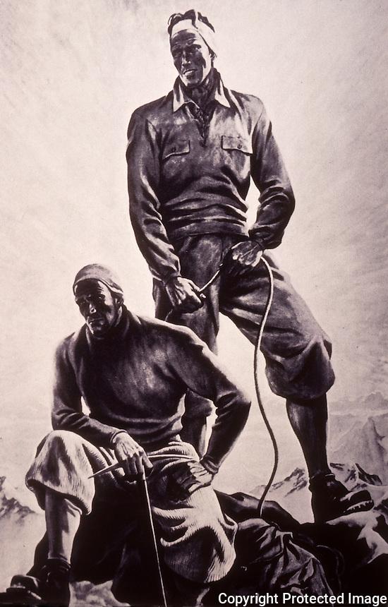 "Nazi Art:  ""Mountain Climbers at the Peak"", Ernst Kretzschmann.  Reference only."