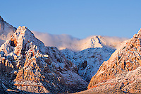 First Snow in the Red Rock Canyon, Nevada