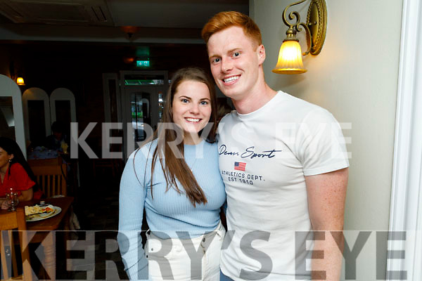 Darragh Scanlon and Kate White enjoying the evening in Bella Bia on Thursday
