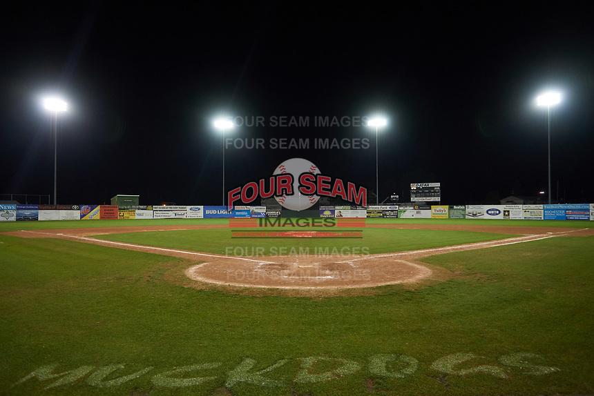 General view of the Batavia Muckdogs field after the teams final game of the season against the Auburn Doubledays on September 6, 2017 at Dwyer Stadium in Batavia, New York.  Auburn defeated Batavia 6-3.  (Mike Janes/Four Seam Images)