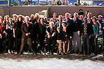 January 16, 2016: Tom and Gale Benson, owners of GMB Racing in the winners circle after Mo Tom wins the Lecomte Stakes in New Orleans Louisiana. Steve Dalmado/ESW/CSM