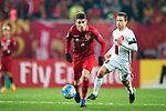 Shanghai FC Forward Oscar Emboaba Junior (L) in action against Sydney Wanderers Forward Nicolas Martinez (R) during the AFC Champions League 2017 Group F match between Shanghai SIPG FC (CHN) vs Western Sydney Wanderers (AUS) at the Shanghai Stadium on 28 February 2017 in Shanghai, China. Photo by Marcio Rodrigo Machado / Power Sport Images