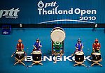 Traditional Thai drums perform during the opening ceremony of the PTT Thailand Open at Impact Arena on September 30, 2010 in Bangkok, Thailand. Photo by Victor Fraile / The Power of Sport Images