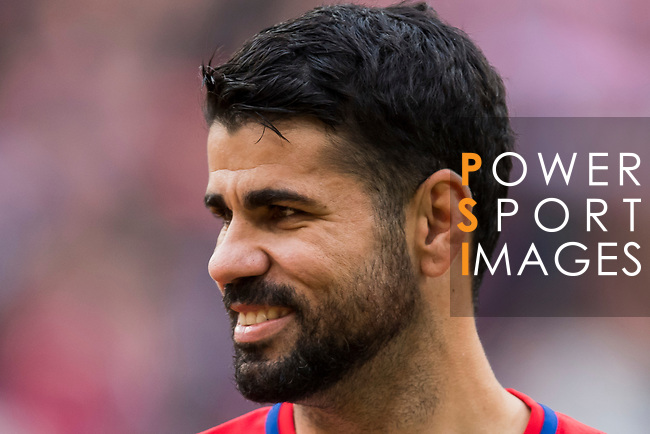 Diego Costa of Atletico de Madrid reacts prior to the La Liga 2017-18 match between Atletico de Madrid and Girona FC at Wanda Metropolitano on 20 January 2018 in Madrid, Spain. Photo by Diego Gonzalez / Power Sport Images