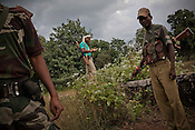 Special Police Officers (SPO) patrol the jungles in Bijapur area in Chhattisgarh, India. Photo: Sanjit Das/Panos for The Times