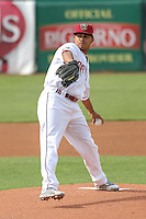 Wisconsin Timber Rattlers pitcher Luis Ortega (37) delivers a pitch during a Midwest League game against the Beloit Snappers on May 30th, 2015 at Fox Cities Stadium in Appleton, Wisconsin. Wisconsin defeated Beloit 5-3 in the completion of a game originally started on May 29th before being suspended by rain with the score tied 3-3 in the sixth inning. (Brad Krause/Four Seam Images)