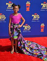 SANTA MONICA, USA. June 16, 2019: Faithe Herman at the 2019 MTV Movie & TV Awards at Barker Hangar, Santa Monica.<br /> Picture: Paul Smith/Featureflash