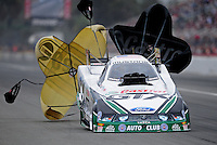 Mar. 11, 2012; Gainesville, FL, USA; NHRA funny car driver Mike Neff during the Gatornationals at Auto Plus Raceway at Gainesville. Mandatory Credit: Mark J. Rebilas-